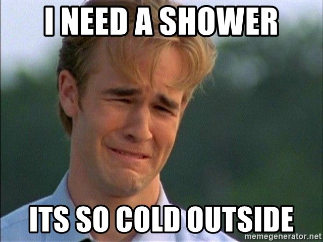 Crying Man - i need a shower its so cold outside