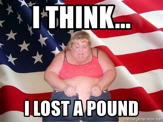 Asinine America - i think... i lost a pound