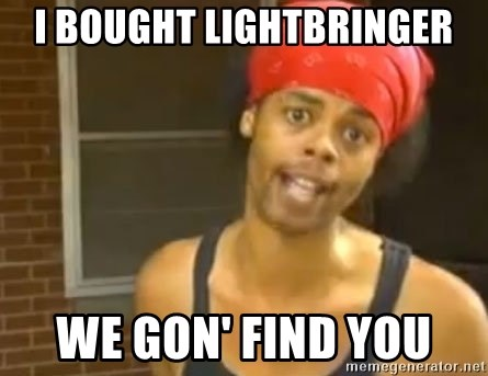 Antoine Dodson - i bought lightbringer we gon' find you