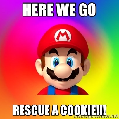 Mario Says - HERE WE GO Rescue a cookie!!!