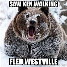 Cocaine Bear - saw ken walking Fled westville