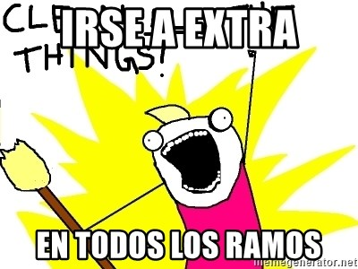 clean all the things - Irse a extra en todos los ramos