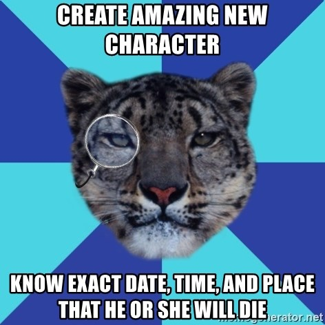 Writer Leopard - Create amazing new Character Know exact date, time, and place that he or she will die
