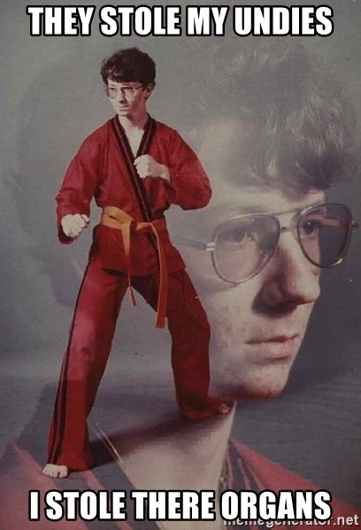 PTSD Karate Kyle - they stole my undies i stole there organs