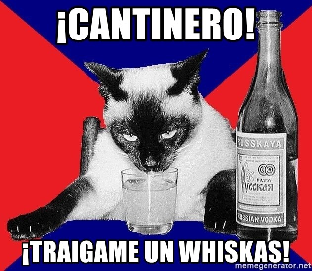 Alco-cat - ¡CANTINERO! ¡TRAIGAME UN WHISKAS!