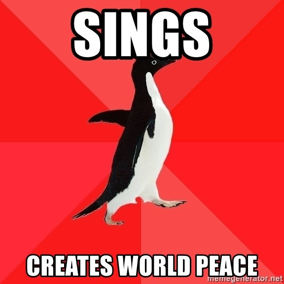 Socially Awesome Penguin - sings creates world peace