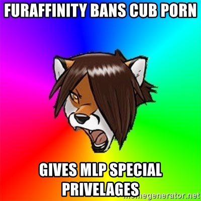 Advice Furry - Furaffinity bans cub porn Gives MLP special privelages