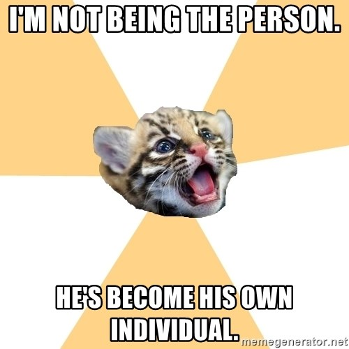facebook roleplay ocelot - I'm not being the person. he's become his own individual.