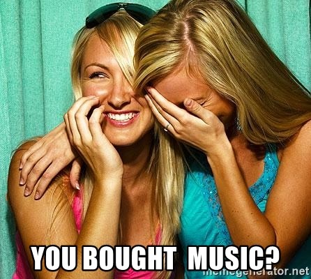 Laughing Whores - you BOUGHT  music?