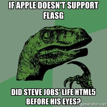 Raptor - If apple doesn't support flasg did steve jobs' life html5 before his eyes?