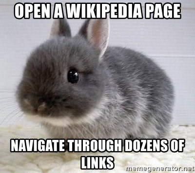ADHD Bunny - open a wikipedia page navigate through dozens of links
