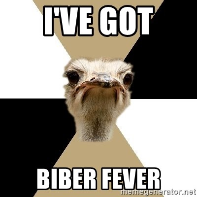 Music Major Ostrich - I've got biber fever