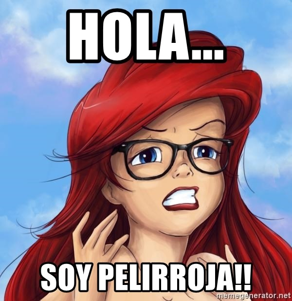 Hipster Ariel - hola... soy pelirroja!!