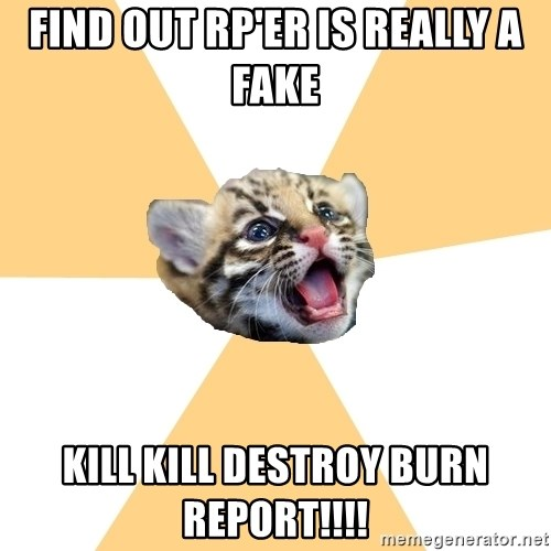 facebook roleplay ocelot - find out rp'er is really a fake kill kill destroy burn report!!!!