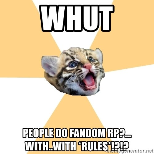 facebook roleplay ocelot - whut people do fandom rp?... with..with *RULES*!?!?