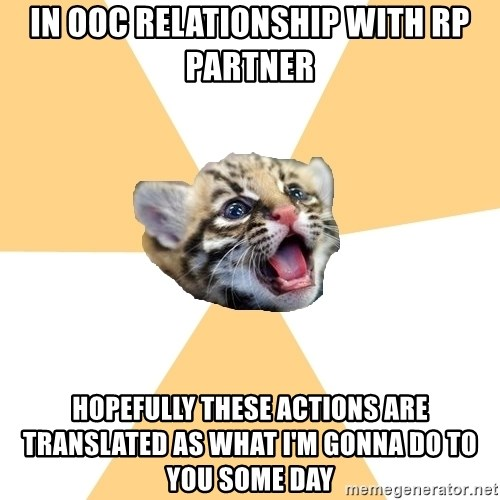 facebook roleplay ocelot - in ooc relationship with rp partner hopefully these actions are translated as what I'm gonna do to you some day