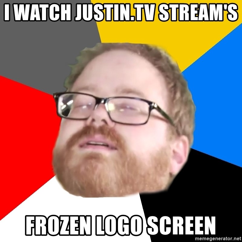 I watch Justin tv Stream's Frozen Logo Screen - Will Smith