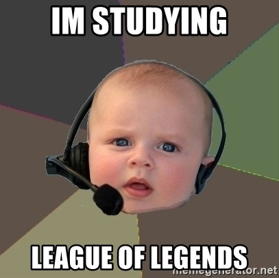 FPS N00b - IM STUDYING LEAGUE OF LEGENDS
