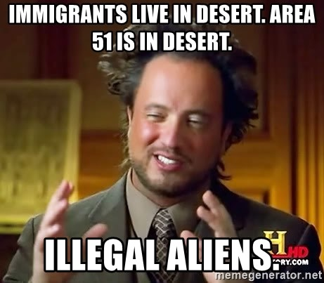 Giorgio A Tsoukalos Hair - immigrants live in desert. area 51 is in desert. illegal aliens.