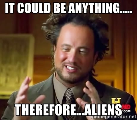 Giorgio A Tsoukalos Hair - it could be anything..... therefore...aliens