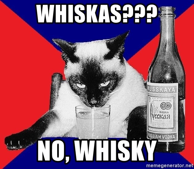 Alco-cat - whiskas??? no, whisky