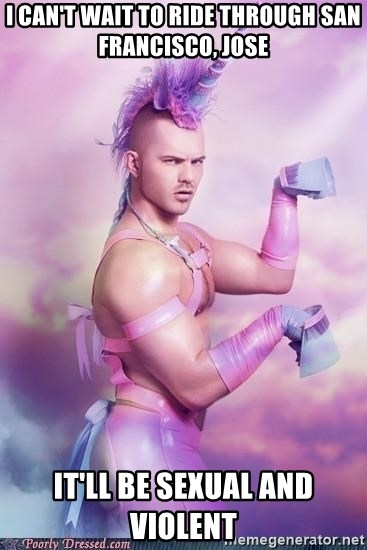 Unicorn Boy - I can't wait to ride through San Francisco, jose It'll be sexual and violent