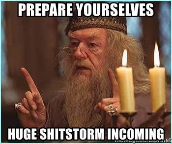 dumbledore fingers - PREPARE YOURSELVES HUGE SHITSTORM INCOMING