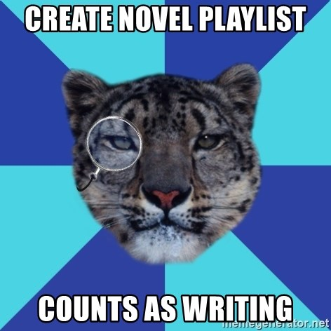 Writer Leopard - Create novel Playlist Counts as writing