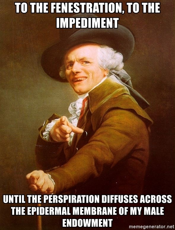 Joseph Ducreux - To the Fenestration, to the impediment until the perspiration diffuses across the epidermal membrane of my male endowment
