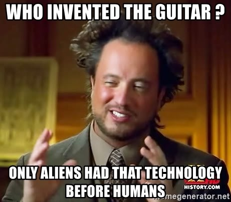 Giorgio A Tsoukalos Hair - who invented the guitar ? ONLY ALIENS HAD THAT TECHNOLOGY BEFORE HUMANS