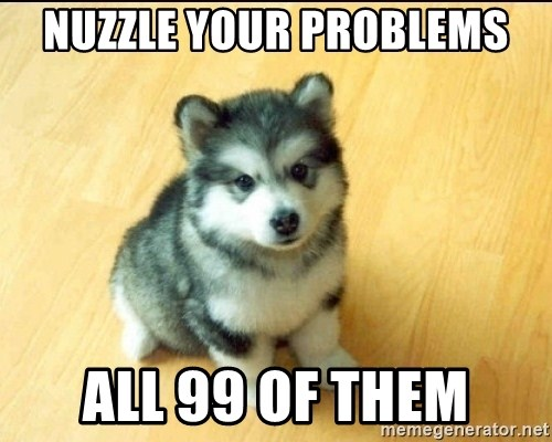 Baby Courage Wolf - nuzzle your problems all 99 of them