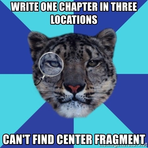 Writer Leopard - write one chapter in three locations can't find center fragment