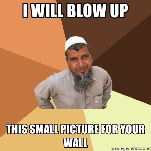 Ordinary Muslim Man - I WILL BLOW UP THIS SMALL PICTURE FOR YOUR WALL