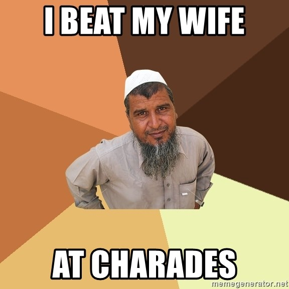 Ordinary Muslim Man - i beat my wife at charades