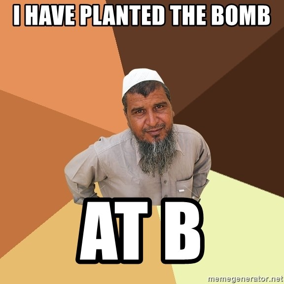 Ordinary Muslim Man - i have planted the bomb at b