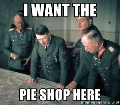 Hitler and Advice Generals - I want the pie shop here