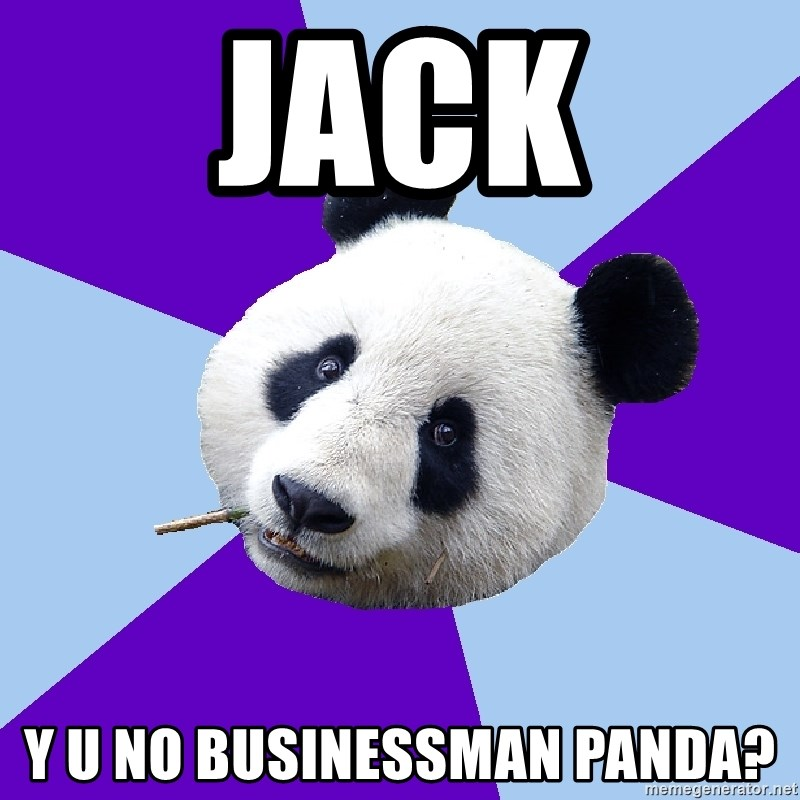 Phts Panda - Jack y u no businessman panda?