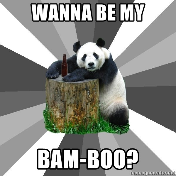 Pickup Line Panda - WANNA BE MY BAM-BOO?