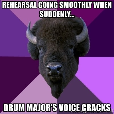 Fuck Yeah Band Buffalo - rehearsal going smoothly when suddenly... drum major's voice cracks