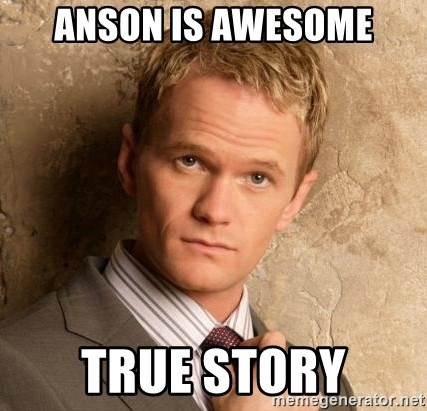 BARNEYxSTINSON - anson is awesome true story