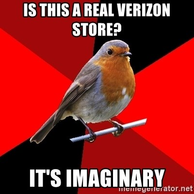 Retail Robin - Is this a real verizon store? It's imaginary