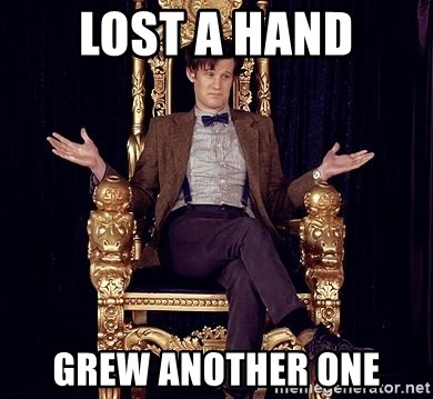 Hipster Doctor Who - Lost a hand grew another one