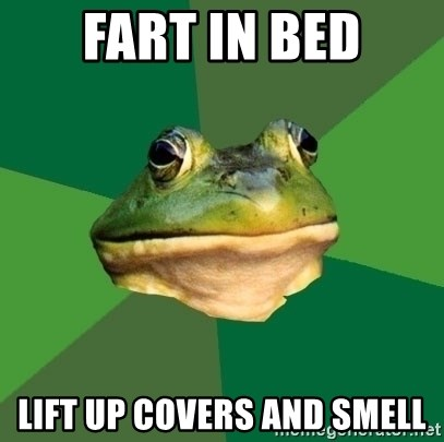 Foul Bachelor Frog - Fart in bed Lift up covers and smell
