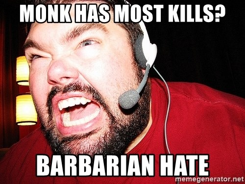 Angry Gamer - Monk has most kills? Barbarian hate