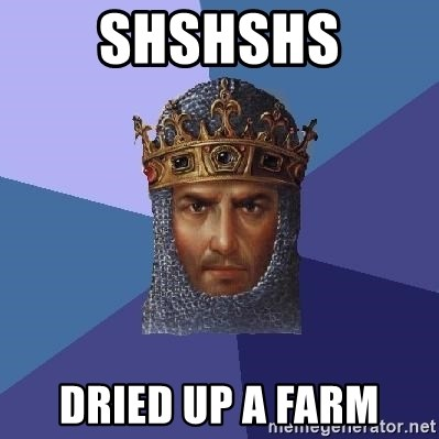 Age Of Empires - shshshs dried up a farm