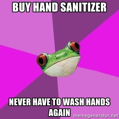 Foul Bachelorette Frog - buy hand sanitizer never have to wash hands again