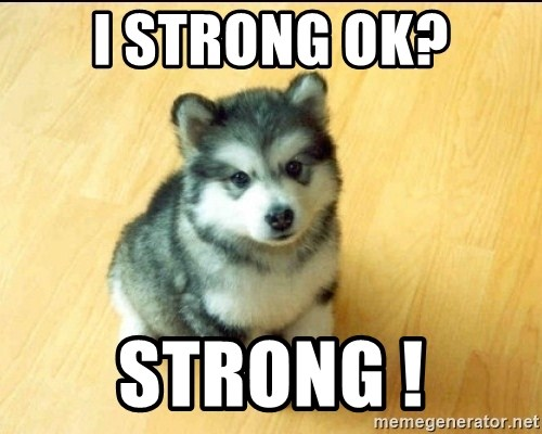Baby Courage Wolf - i strong ok? strong !