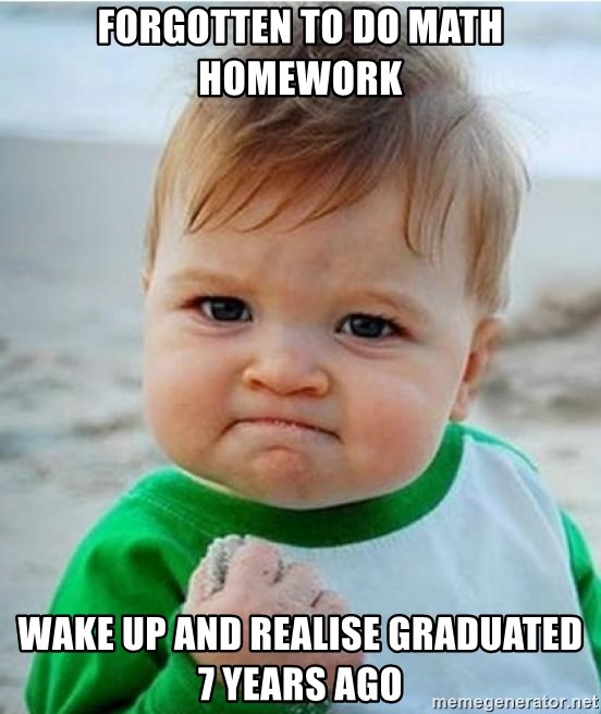 victory kid - Forgotten to DO Math Homework Wake up and realise graduated 7 years ago
