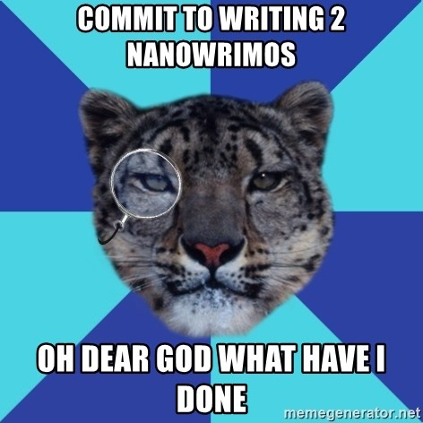Writer Leopard - Commit to writing 2 nanowrimos oh dear god what have i done