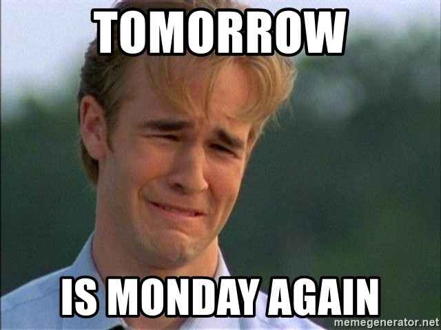 Crying Man - tomorrow is monday again